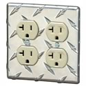 Click here for more information about Aluminum Diamond-Plate Dual Duplex Outlet Cover
