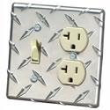 Click here for more information about Aluminum Diamond-Plate Switch/Outlet Cover