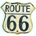 "Click here for more information about Route 66 Sign - 16"" x 15"""