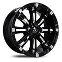 Click here for more information about Rolling Big Power 94R-1810-97-25BP - RBP 94R Gloss Black Wheels with Chrome Inserts