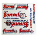 Click here for more information about Summit Racing SUM-164-50 - Summit Racing® 50th Anniversary Decals