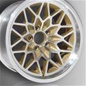 Click here for more information about U.S. Wheel Classic Muscle Car Snowflake Series Silver Wheels with Gold Accents