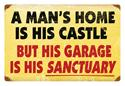 Click here for more information about A Man's Home Large Steel Sign