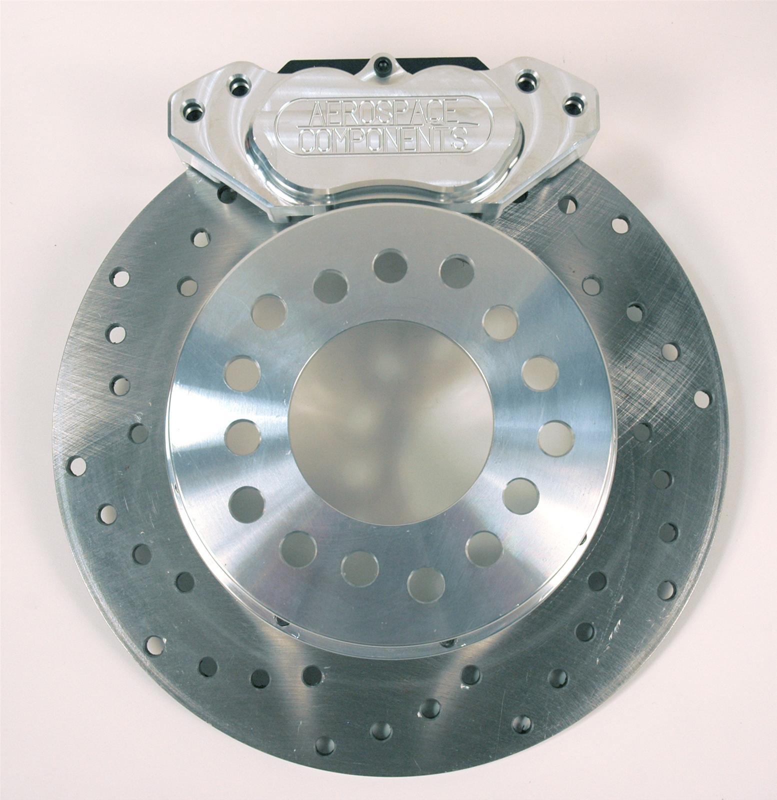 Aerospace rear drag race disc brake kits with caliper ac
