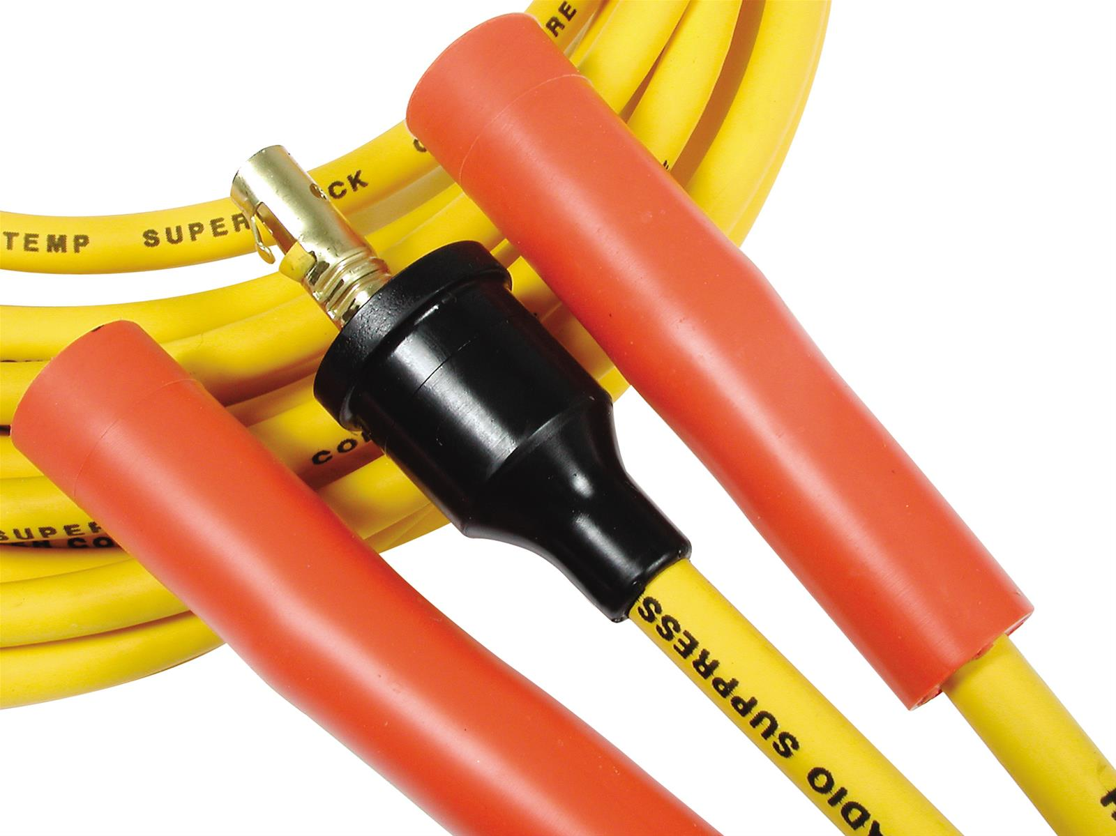 Accel Spark Plug Wires Super Stock 8mm Yellow Straight Boots Gm Hei Wiring Universal V8 Set 743047006825 Ebay