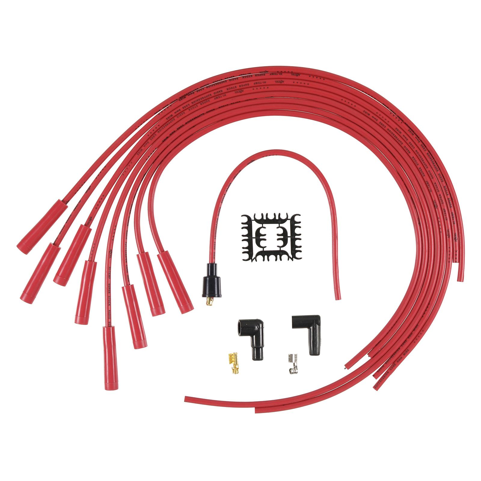 Accel Superstock 4000 Series Spark Plug Wire Sets 4040r Free Ignition Circuit Diagram For The 1949 54 Nash All Models Shipping On Orders Over 99 At Summit Racing