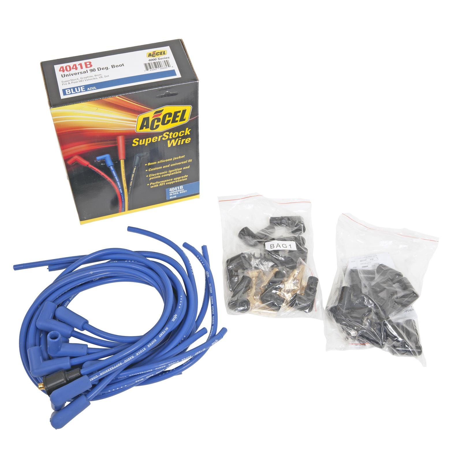 ACCEL SuperStock 4000 Series Spark Plug Wire Sets 4041B on