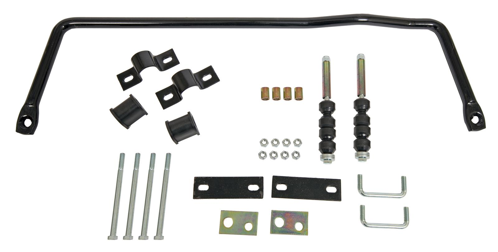 Diameter Fits Jeep Kit Addco 684 Sway Bar Rear Steel Black Powdercoated 1 in
