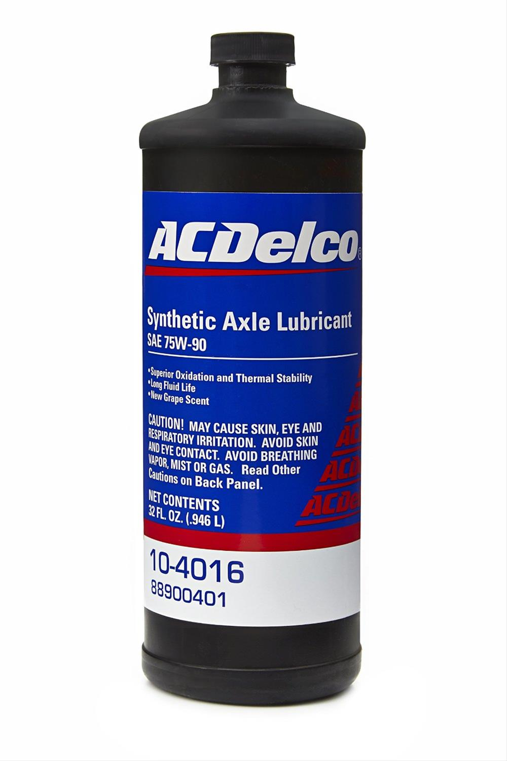 ACDelco 88900401 Axle Lubricant, Synthetic, 75W90, 32 Oz