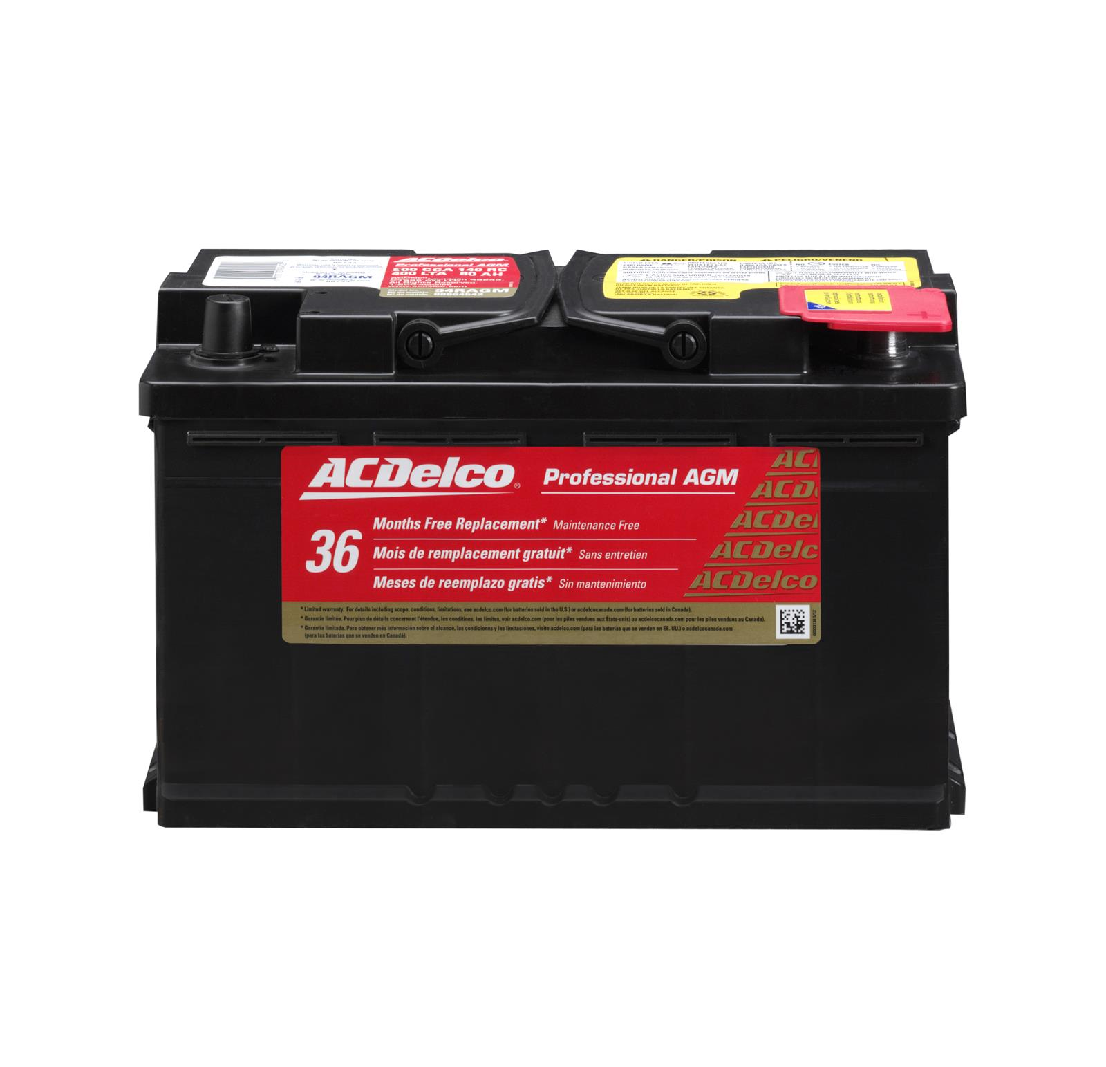 Ac Delco Battery Warranty >> Acdelco Professional Automotive Agm Batteries 88864542