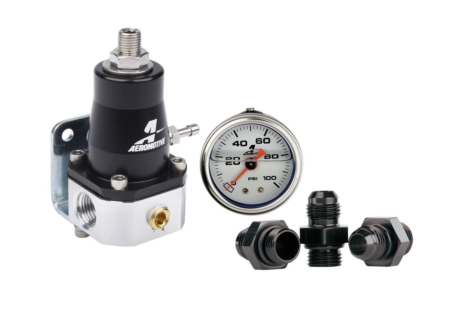 Mostbest Universal Aluminum Adjustable Aero 13130 30-70Psi Fuel Pressure Regulator Motive Gauge EFI Bypass An6 Fpr