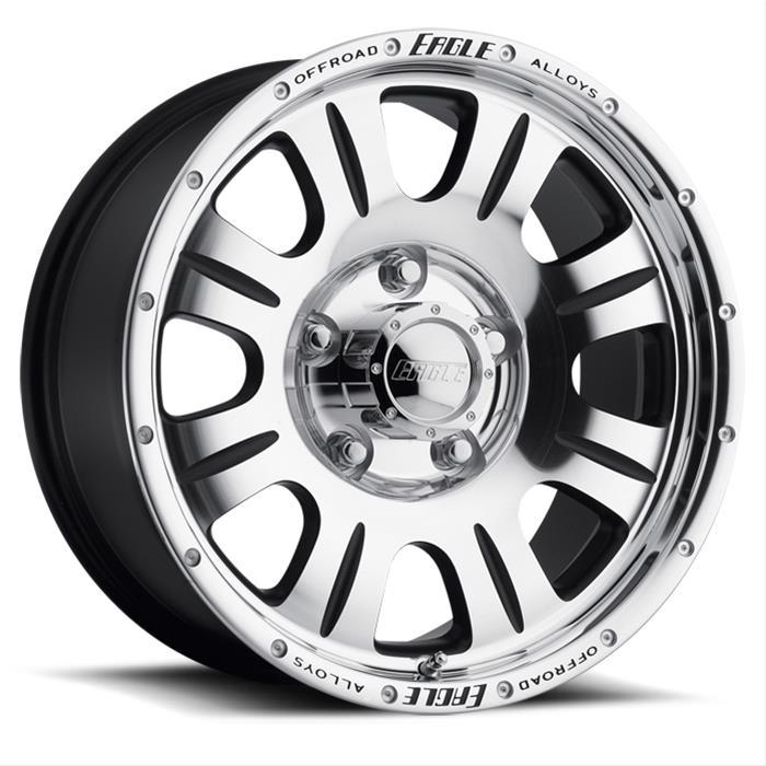 Eagle Alloys 140 Series Super Finish Wheels With Black Trim 1402