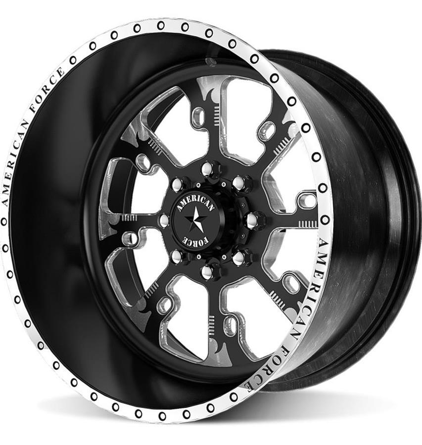American Force Nra Sf8 Series Flat Black Wheels Aftc178c17 20