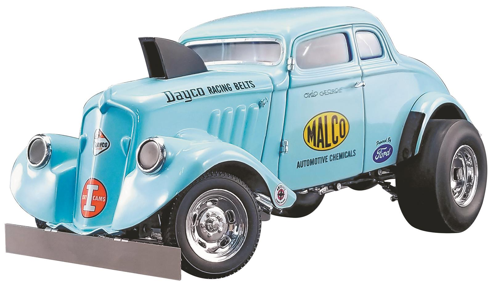 RED FREE SHIPPING 1933 WILLYS 1:18 SCALE GASSER MODEL