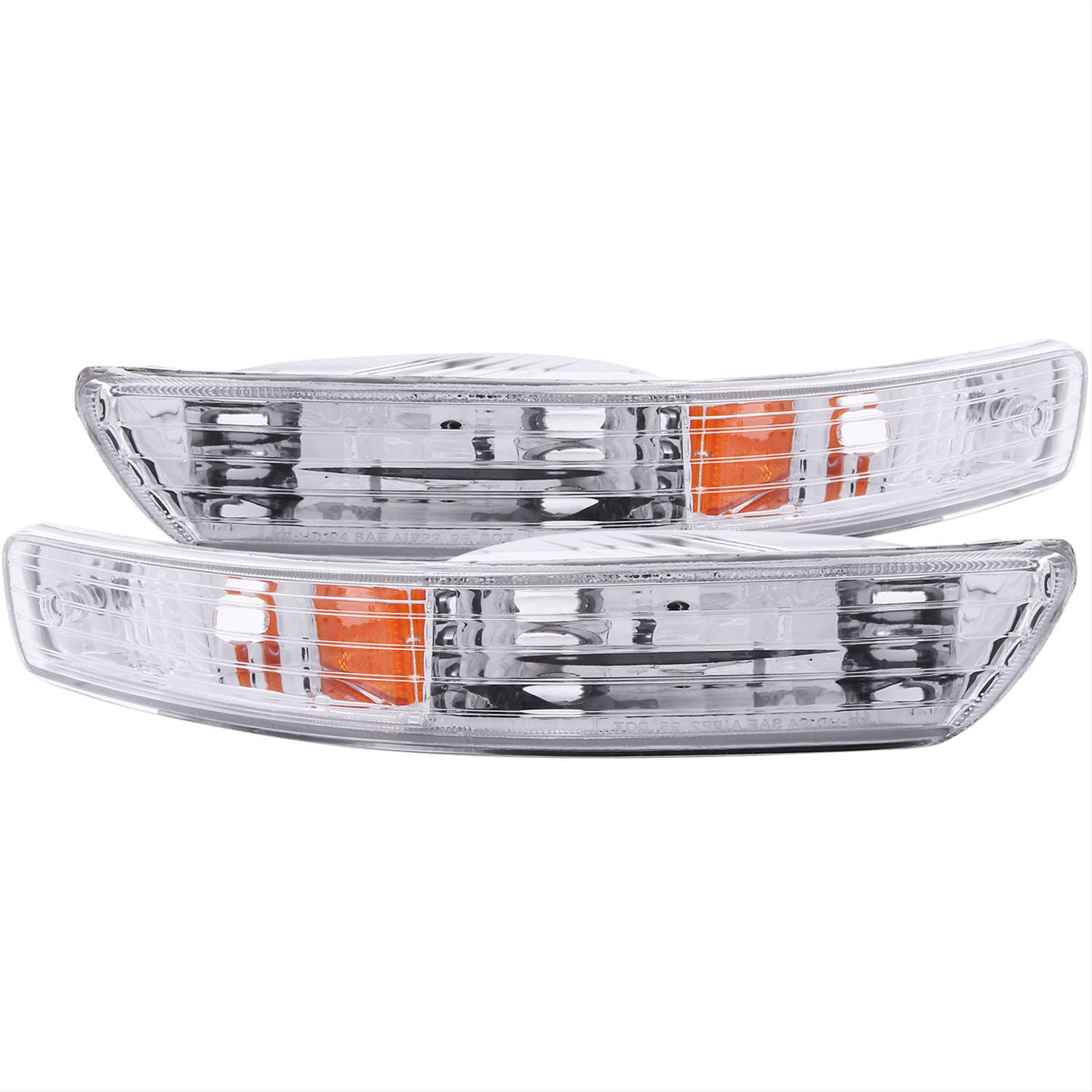 Anzo USA 511007 Honda Accord Chrome Euro w//Amber Reflector Bumper Light Assembly Sold in Pairs