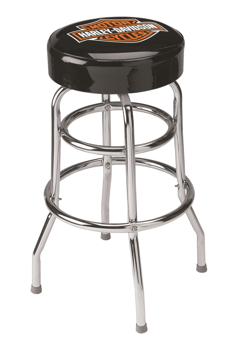 Incredible Harley Davidson Classic Bar And Shield Design Barstool Hdl 12116 Squirreltailoven Fun Painted Chair Ideas Images Squirreltailovenorg
