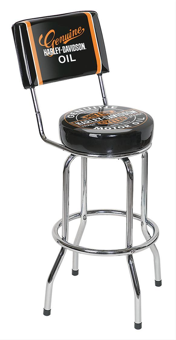 GHH Bar Stool Chrome Legs Black Vinyl Padded Seat Harley  : APD HDL 12203xl from www.ebay.com size 582 x 1125 jpeg 57kB