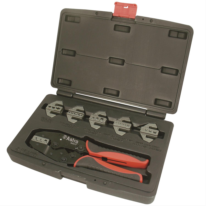 Automotive Cable Crimping Kit 5 Die Quick Change Ratchet Crimper Spark Plug Lead