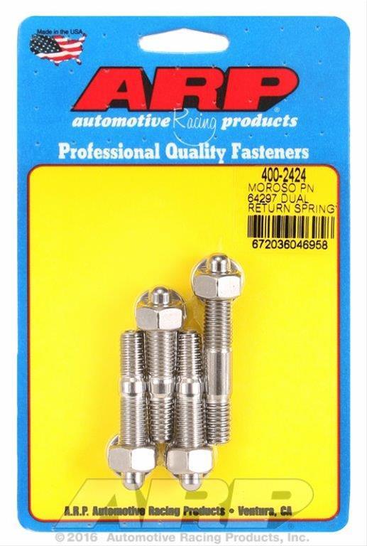 "ARP Carburetor Stud Kit 400-2403; Polished Stainless Steel for 1//2/"" Spacers"