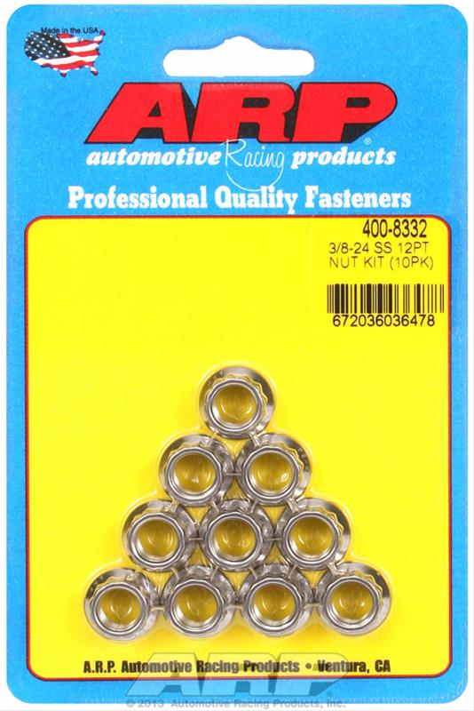 NUTS ARP 400-8332 S//S 12PT 3//8-24
