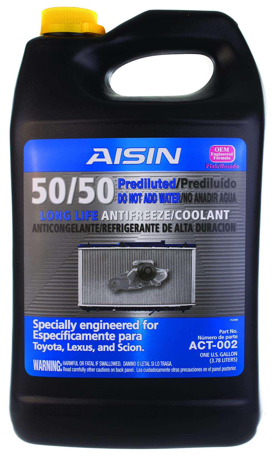 Pink Engine Coolant Aisin 50 Pre Diluted Super Long Life Antifreeze Act 002 Free Shipping On Orders Over 99 At Summit Racing