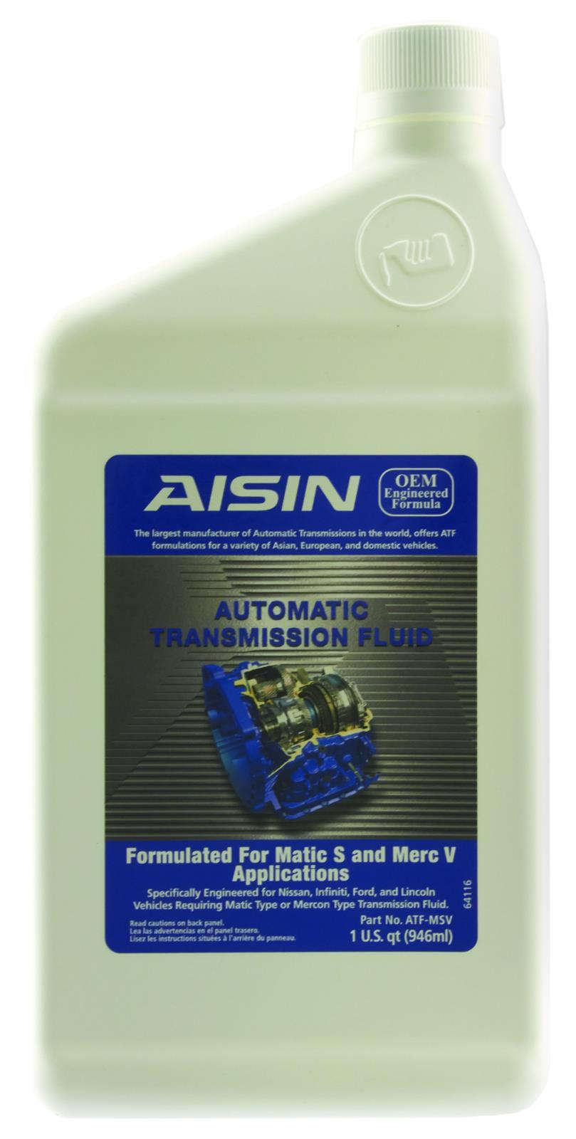 Aisin Automatic Transmission Fluid ATF-MSV - Free Shipping on Orders Over  $49 at Summit Racing