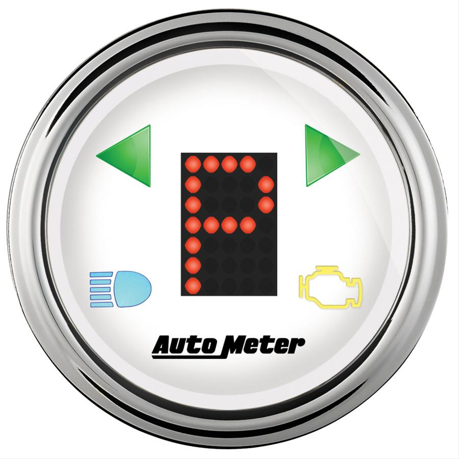Summit Digital Meters : Autometer shift indicator gauges free shipping on