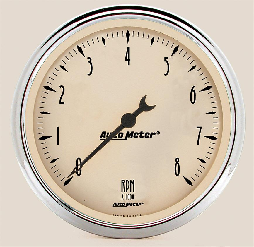 Auto Meter 1899 Antique Beige Street Rod Tachometer