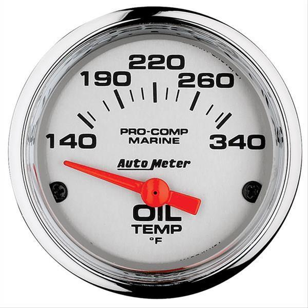 Auto Meter AutoMeter 200764-40 Gauge Marine Carbon Fiber 140-300/ºf 2 1//16 Electric Oil Temp