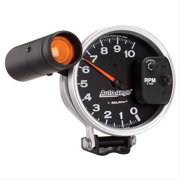 auto gage monster shift lite tachometer 0 10 000 5 dia. Black Bedroom Furniture Sets. Home Design Ideas