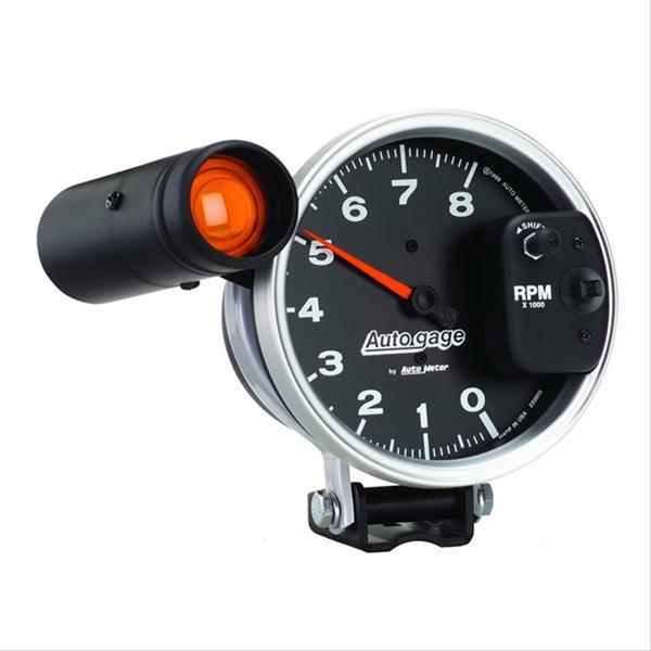 auto gage monster shift lite tachometer 0 8 000 5 dia. Black Bedroom Furniture Sets. Home Design Ideas