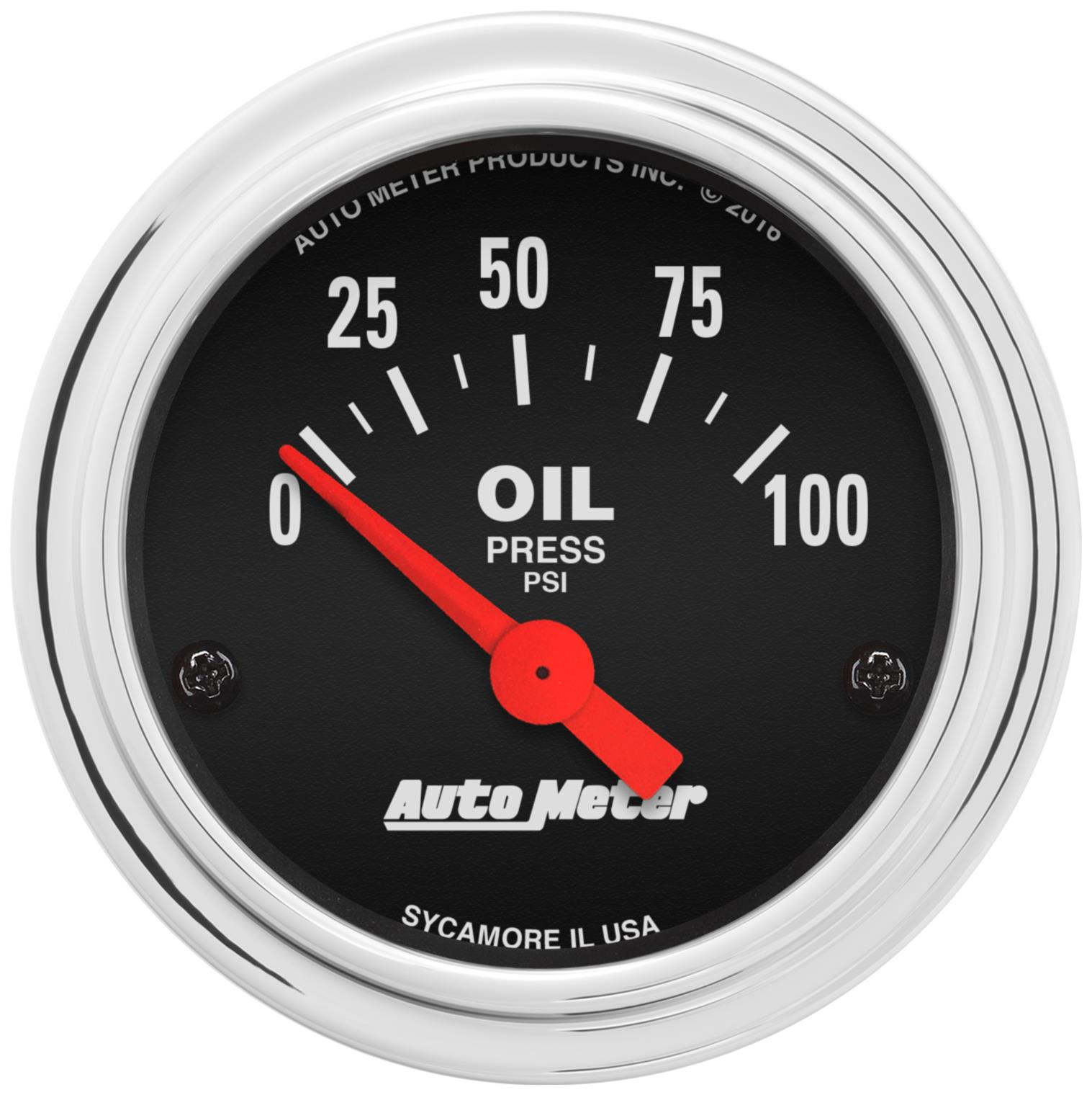 AutoMeter Traditional Chrome Analog Gauges 2522 - Free Shipping on Orders  Over $99 at Summit Racing