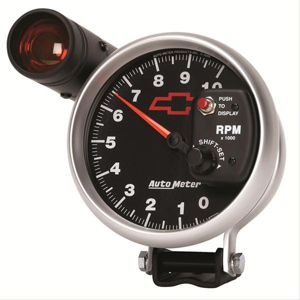 auto meter sport comp ii chevy bowtie tachometer 3699. Black Bedroom Furniture Sets. Home Design Ideas