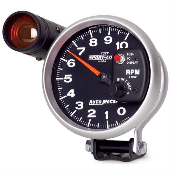 autometer sport comp ii tachometer 0 10 000 5 quot dia black 3699 ebay