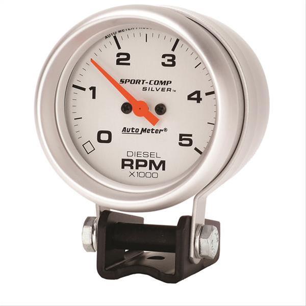 autometer sport comp mini tachometer diesel 0 5 000 2 5 8. Black Bedroom Furniture Sets. Home Design Ideas