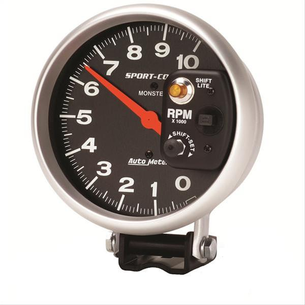 autometer sport comp monster shift lite tachometer 0. Black Bedroom Furniture Sets. Home Design Ideas