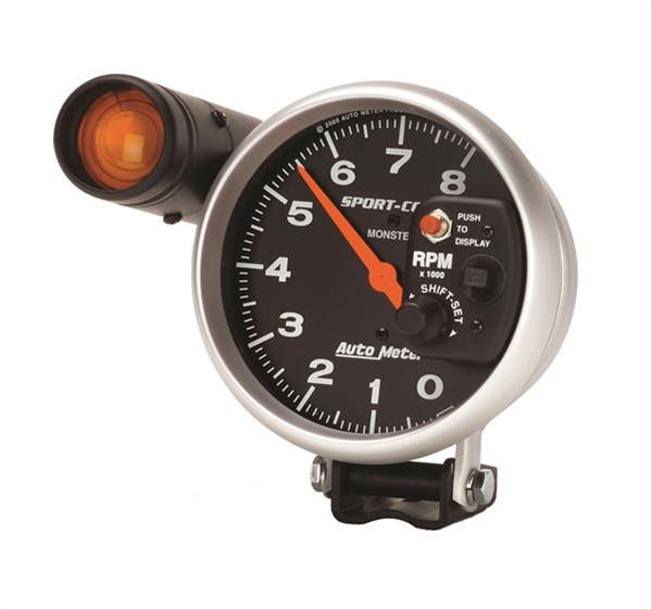 autometer sport comp monster shift lite tachometer 0 8 000. Black Bedroom Furniture Sets. Home Design Ideas