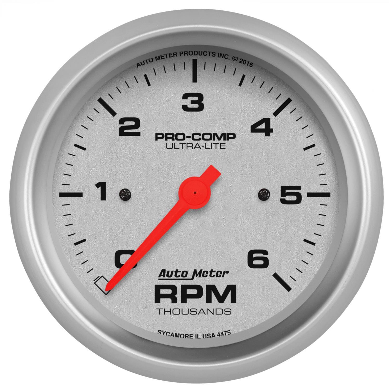 Electrical 3-3//8 in. Autometer 7597 Phantom II Tachometer Gauge