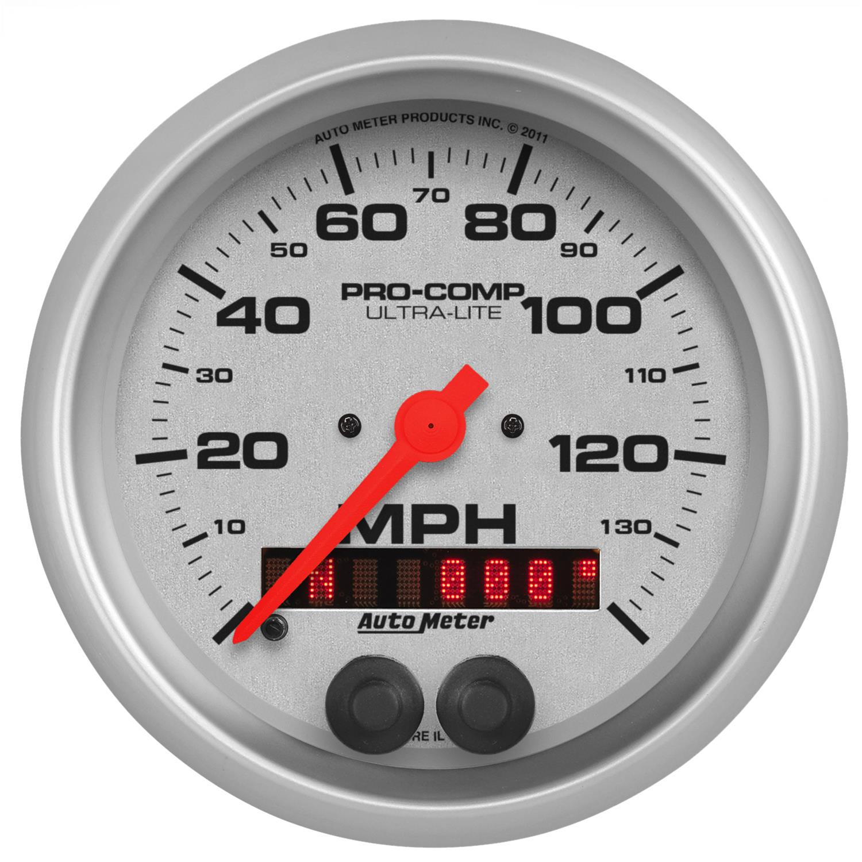 Speedometer 3 3//8 Old TYME Black GPS Auto Meter AutoMeter 1749 Gauge 120Mph