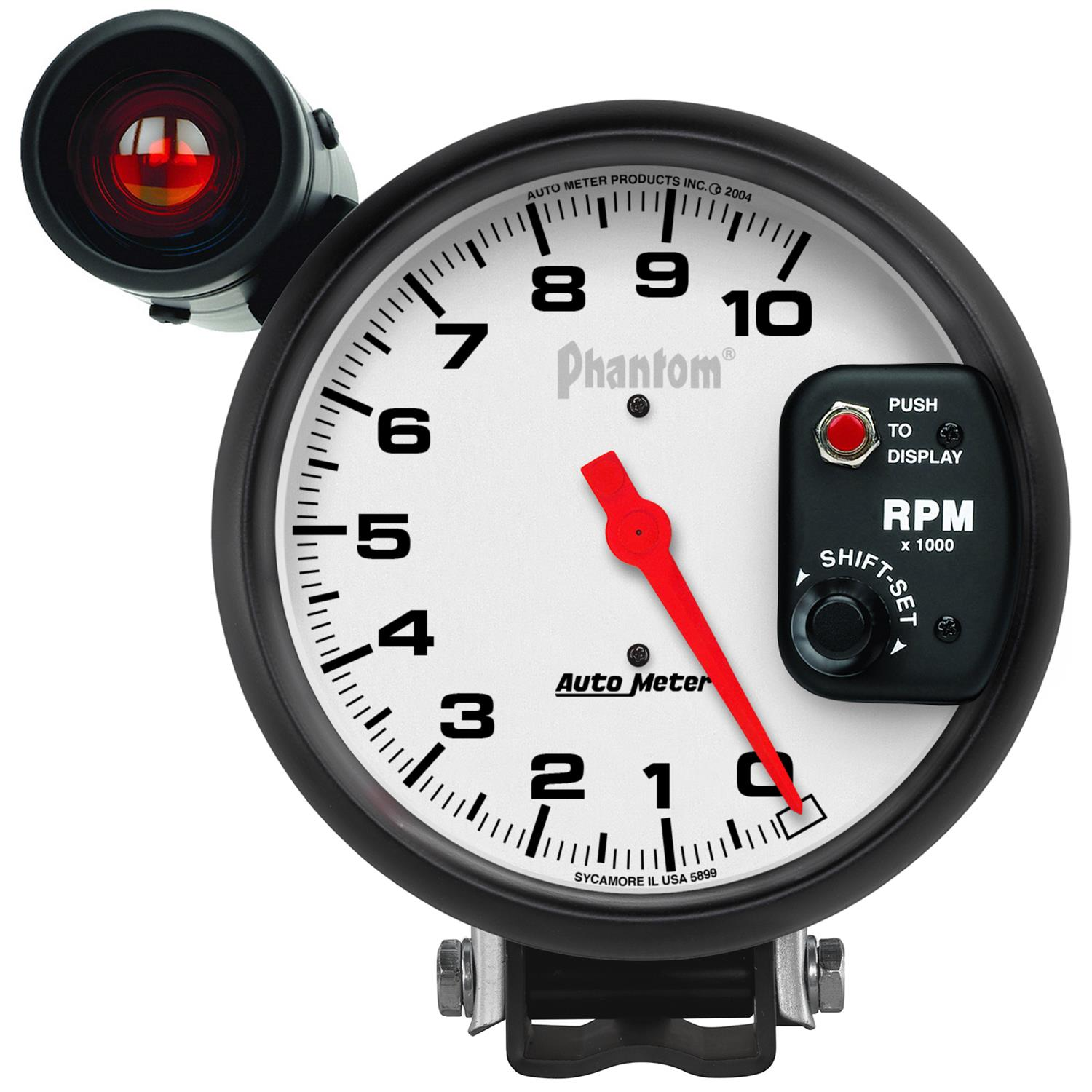 autometer phantom monster shift lite tachometer 0 10,000 5\