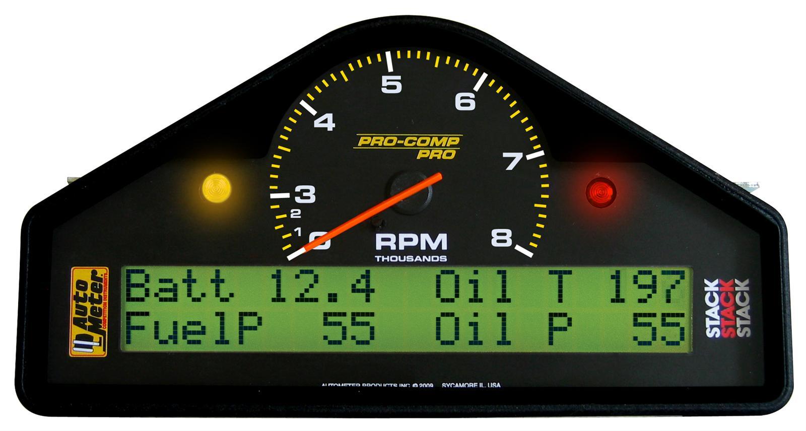 Summit Digital Meters : Autometer pro comp dash display systems free