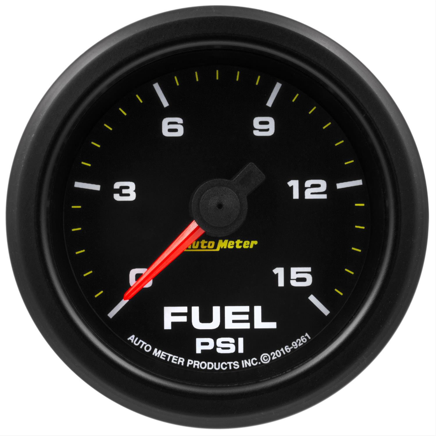 Auto Meter 5667 Elite 2-1//16 0-15 PSI Fuel Pressure Gauge
