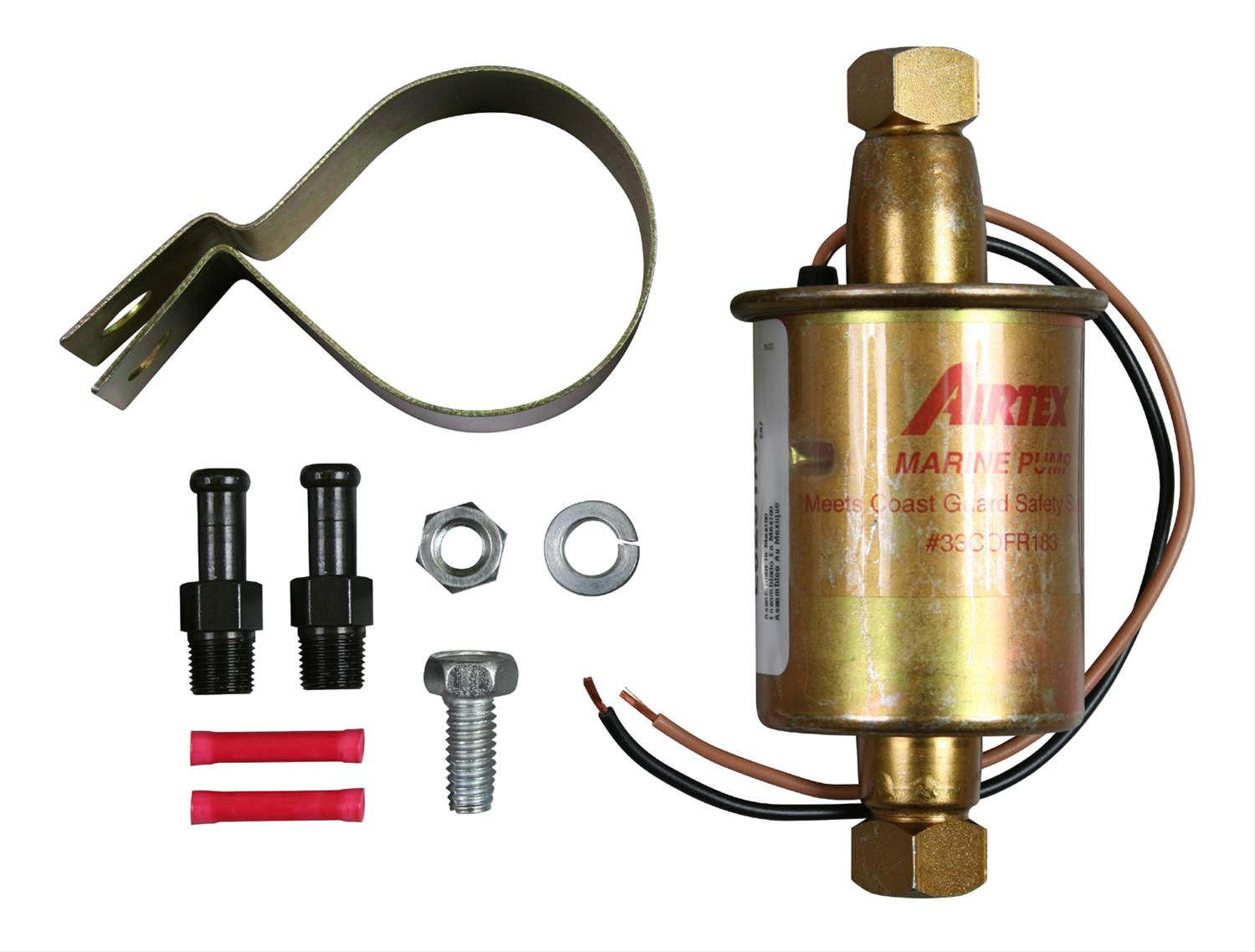 Airtex Fuel Pump Diagram Wiring Will Be A Thing Holley External Electric Pumps E8251 Free Shipping On Orders Rh Summitracing Com Parts Green Harness 2 Wires