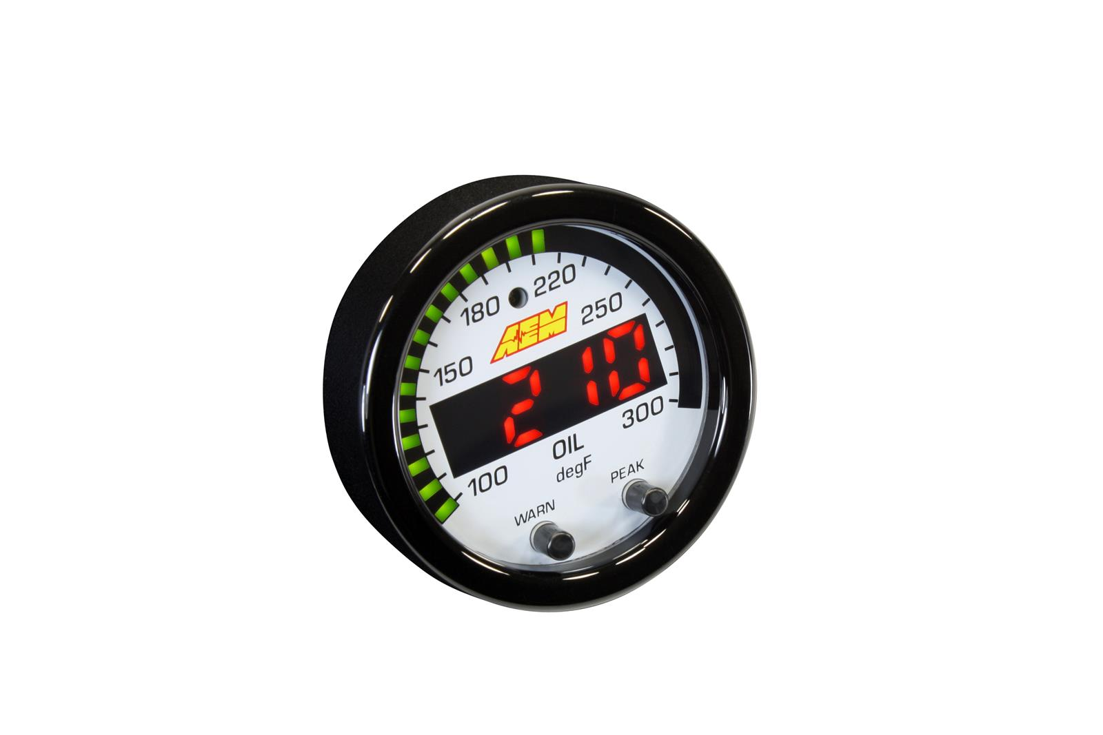 "AEM 30-0302 X-Series Water//Trans//Oil Temp Gauge 100-300 Degrees 2-1//16/"" Dia"