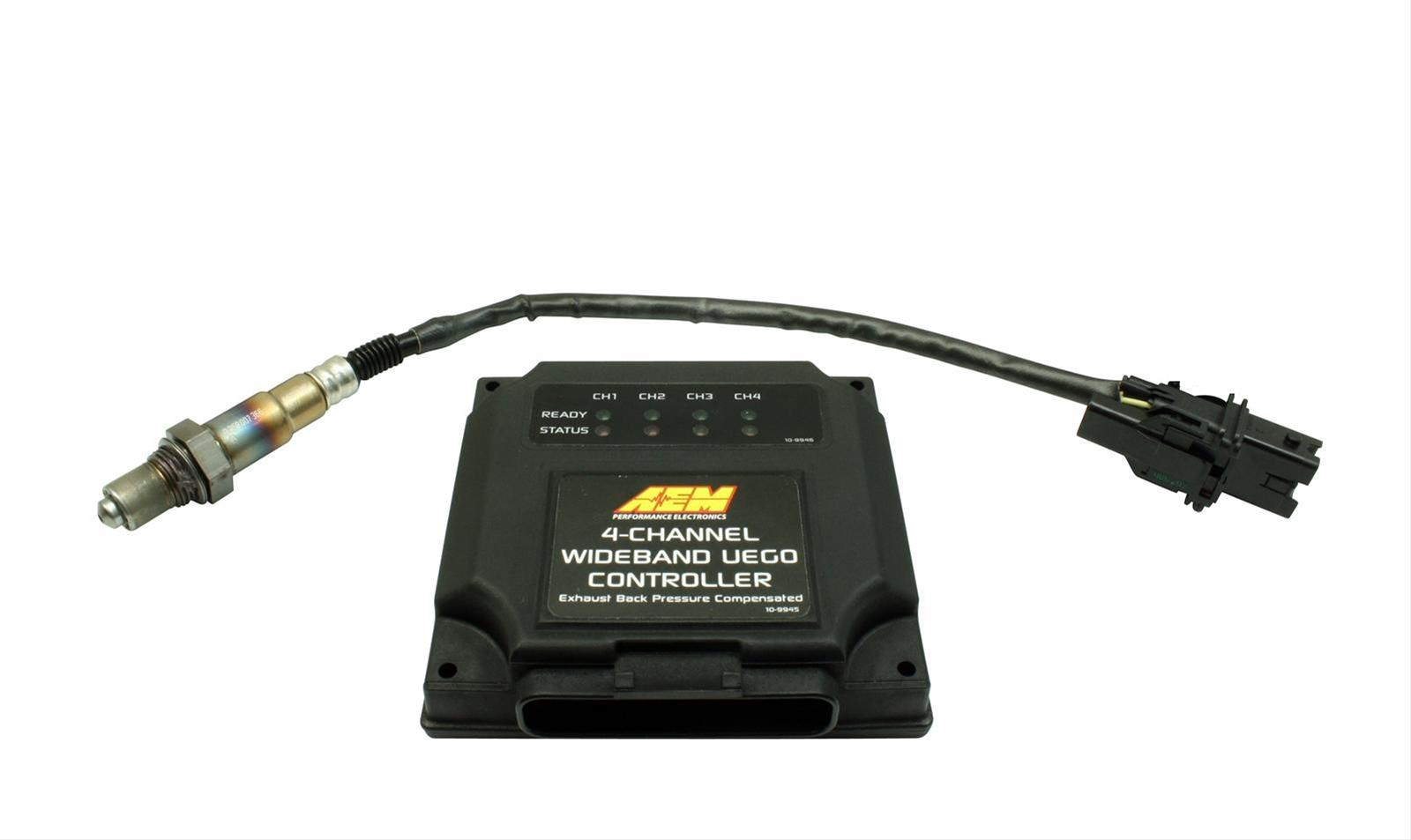 AEM Electronics 4-Channel Wideband Air/Fuel UEGO Controllers 30-2340 - Free  Shipping on Orders Over $99 at Summit Racing