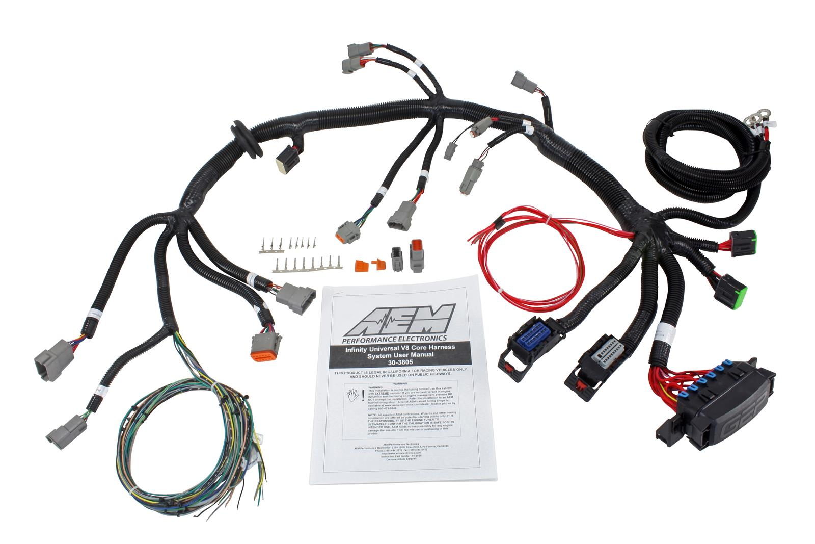 AEM Electronics Infinity Wiring Harnesses 30-3805 - Free Shipping on Orders  Over $99 at Summit Racing