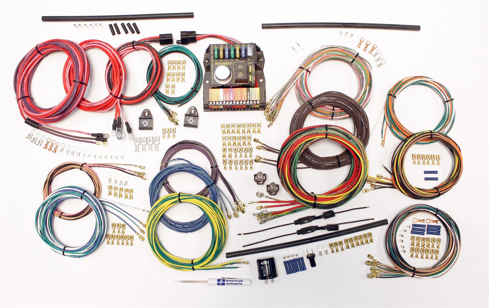 american autowire classic update series wiring harness kits 510419 rh summitracing com Custom Automotive Wiring Harness Kits american auto wire gauge harness