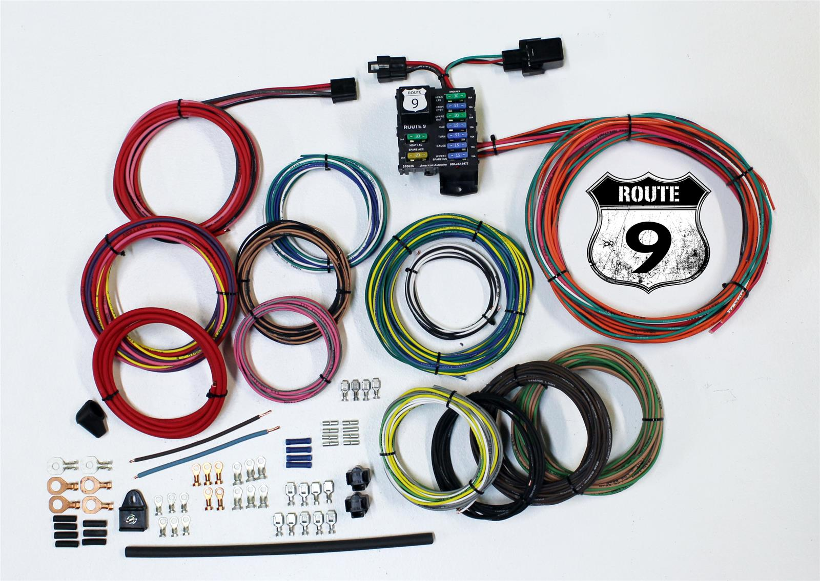 Teca Wiring Harness Tape Vw Library Uk American Autowire Route 9 Universal Systems 510625 Free Shipping On Orders Over 99 At