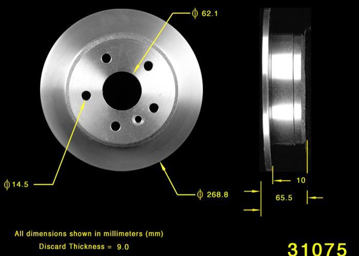 Bendix Premium Drum and Rotor PRT6329 Rear Brake Rotor