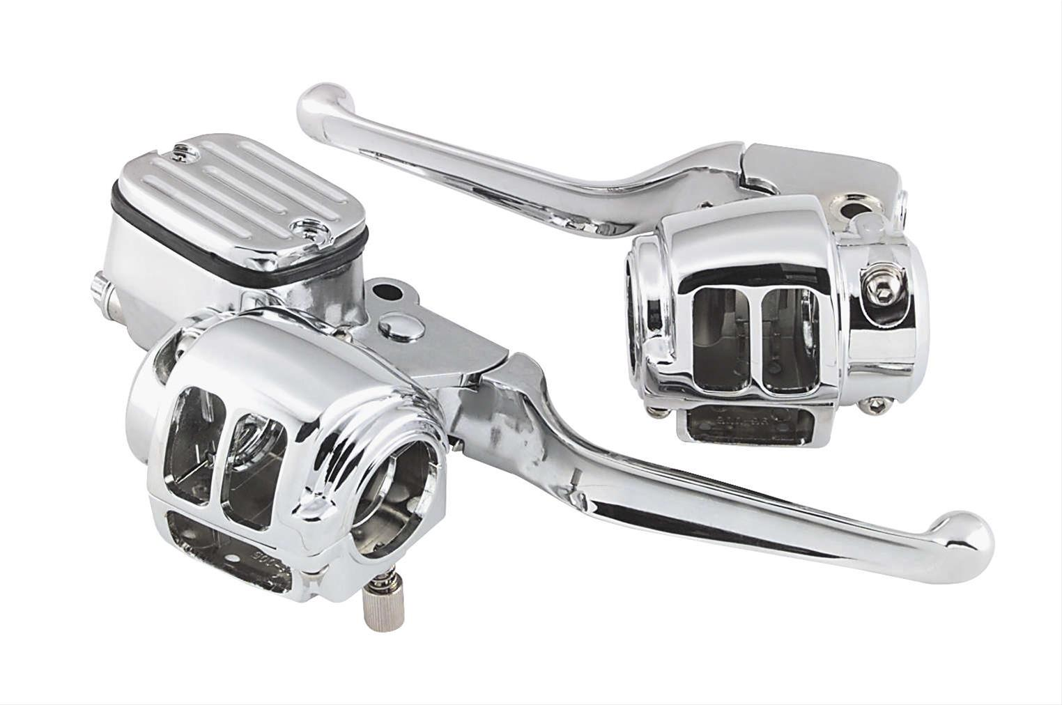 Handlebar Control Switches Chrome for Harley Models